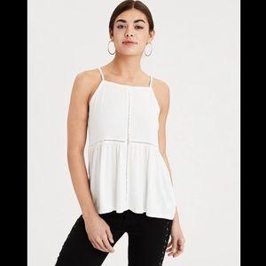 AEO Soft & Sexy White Strap Tank Top